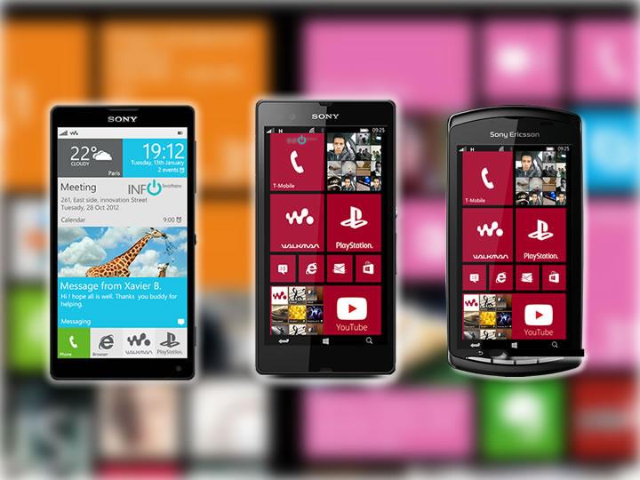 Como seria a linha Xperia com Windows Phone?