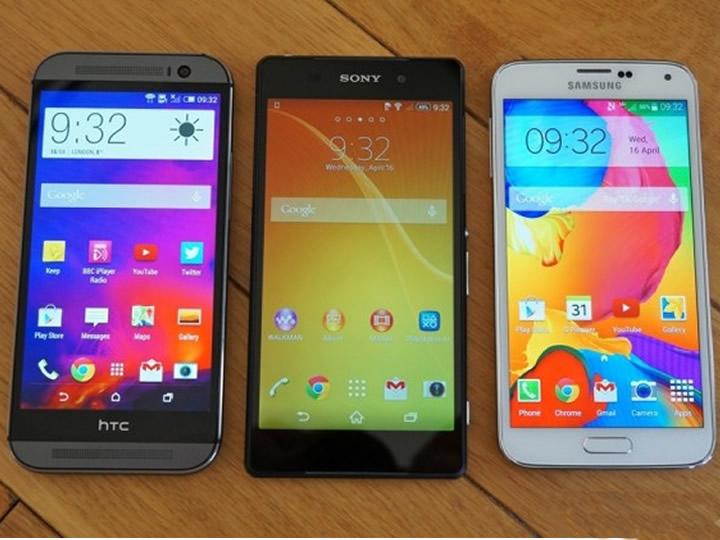 Sony Xperia Z2 se destaca em performance ao lado do Galaxy S5, e HTC One M8.