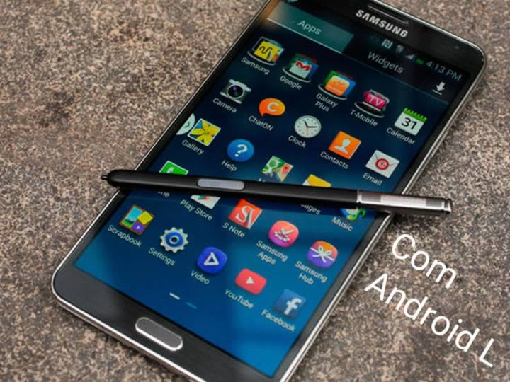 Veja o Samsung Galaxy Note 3 rodando o Android L!