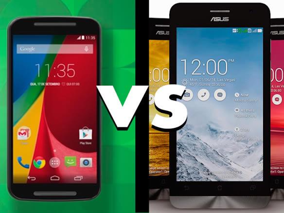 Novo Moto G versus Asus ZenFone 5. Comparativo até R$700,00