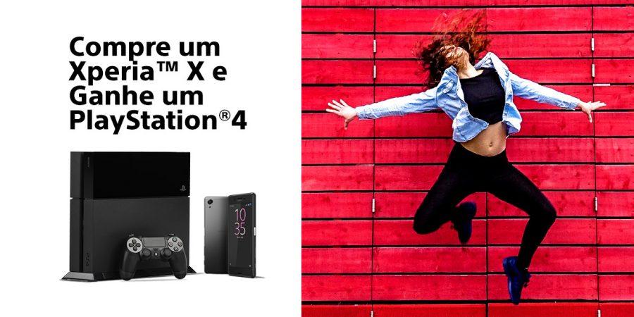 Compre um Xperia X e ganhe um PS4