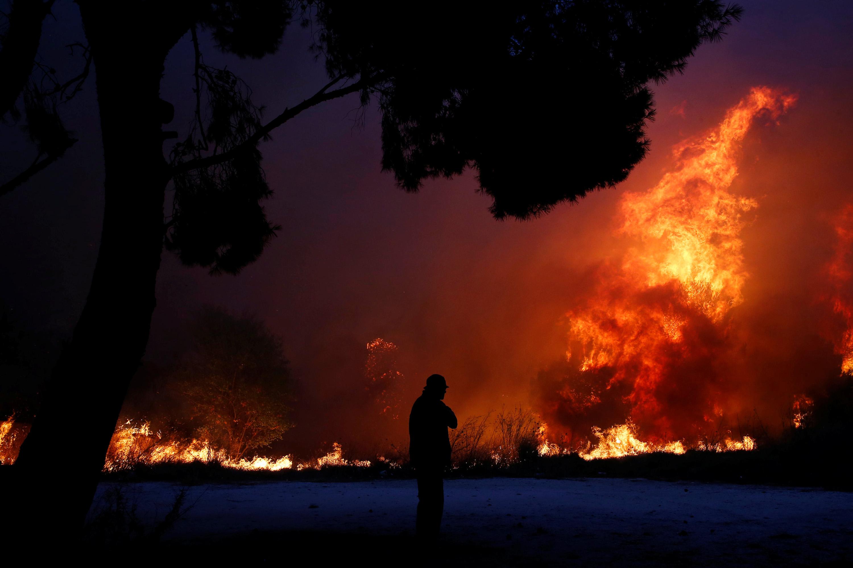 Incêndios florestais na Grécia